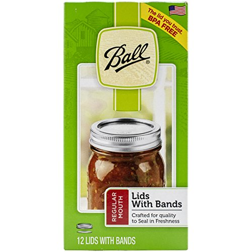 Ball Lid/Band Regular Mouth Silver 12pc Jar Lids & Bands