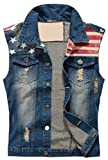 Product review for Camo Coll Men's Sleeveless Lapel Denim Vest Jacket