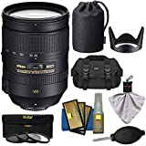 Nikon 28-300mm f/3.5-5.6 G VR AF-S ED Zoom-Nikkor Lens with 3 UV/ND8/CPL Filters + Case + Kit for D3200, D3300, D5300, D5500, D7100, D7200, D750, D810 Camera