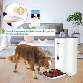 WOPET-SmartFeederAutomatic-Pet-Dog-and-Cat-Feeder6-Meal-Auto-Pet-Feeder-with-Timer-ProgrammableHD-Camera-for-Voice-and-Video-RecordingWi-Fi-Enabled-App-for-iPhone-and-Android