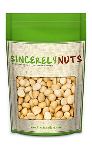 Sincerely Nuts Raw Macadamia Nuts Unsalted - Two (2) Lb. Bag - Uncompromised Natural Taste - Amazingly Nutritious - Freshly Sealed, Kosher