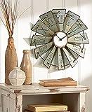 Metal Windmill Wall Clock