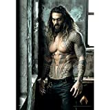 MightyPrint Justice League Movie Aquaman (Jason Momoa - Shirtless) Wall Art - Not Made of Paper! Strong - Lasting- Matte Finish