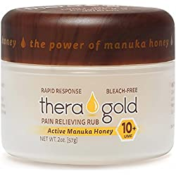 Anti Inflammatory Cream Pain Relief Cream With Manuka Honey Cream For Carpeltunnel, Fibromyalgia, Sciatica, Arthritis, Back Pain, Tennis Elbow, Plantar Fasciitis, Sore Muscles, Joints, Chronic Aches