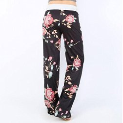 dad89a0bb4 Assivia Womens Wide Leg High Waist Yoga Palazzo Pants Casual Printed  Drawstring Trousers