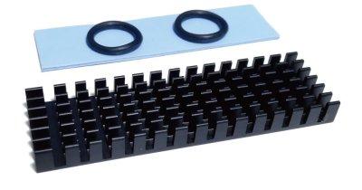 monofive M.2 (2280) SSD用ヒートシンク 放熱板(黒) MF-RADI-A1B