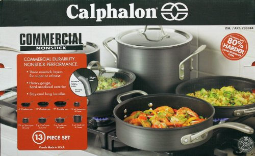Calphalon Cookware Set Commercial Nonstick 13 Pieces