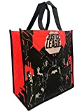 DC Comics Justice League Batman Red Black Sillouette with Logo Tote Bag Grocery Shopping Bags