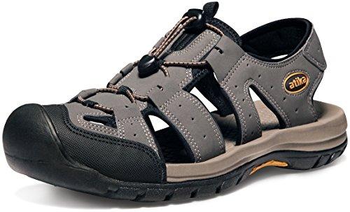 ATIKA AT-M108-GRY_Men 11 D(M) Men's Sports Sandals Trail Outdoor Water Shoes 3Layer Toecap M108