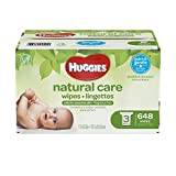 Huggies Natural Care Baby Wipes, Sensitive, Unscented, 3 Refill Packs, 648 Count Total