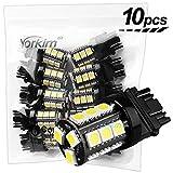 Yorkim Super Bright 3157 LED Light Bulbs White Pack of 10, 3157 LED Brake Lights, 3157 LED Backup Reverse Lights, 3156 LED Reverse Tail Lights, Turn Signal Led - 3056 3156 3057 3157 4157 LED Bulbs