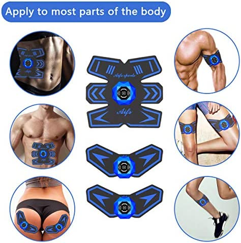 Abs Stimulator Ab Stimulator Recharge Muscle Toner Trainer Ultimate Abs Stimulator for Men Women Abdominal Work Out Ads Power Fitness Abs Muscle Training Gear ABS Workout Equipment Portable 5