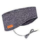 Sleep headphones, Azzker Eye Mask for Sleeping with Ultra-Thin HD Stereo Speakers & Travel Bag Perfect for Insomnia, Side Sleeper, Nap, Snoring, Air Travel, Meditation & Relaxation (Gray)