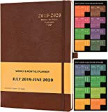 Planner 2019-2020 - Academic Weekly & Monthly Planner + Soft Cover with Pen Holder and Thick Paper, Back Pocket with Julian Date - Bonus 24 Notes Pages + Gift Box - 8.5' x 11'