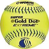 Worth 12' USSSA Gold Dot Extreme Slowpitch Softball (Dozen)