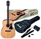 Ibanez 6 String Acoustic Guitar Pack Ambidextrous, Natural Gloss IJV50