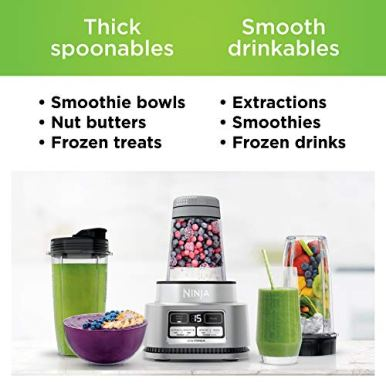 Ninja-SS101-Foodi-Power-Nutri-Duo-Smoothie-Bowl-Maker-and-Personal-Blender-1200WP-smartTORQUE-4-Auto-iQ-Presets-One-base-multi-functions-Silver-Stainless-Finish
