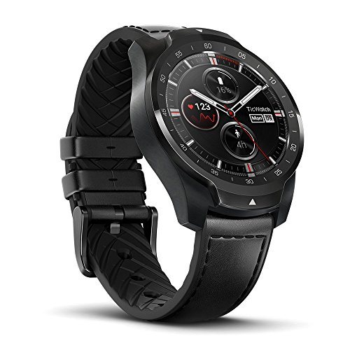 Smart Watch TicWatch Pro Bluetooth, Layered Display, NFC Payment, Google Assistant, Wear OS by Google (Formerly Android Wear),Compatible with iPhone and Android (Black)