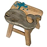 Product review for Whale Design Hand Carved Acacia Hardwood Decorative Short Stool