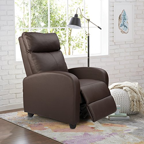 Homall Manual Recliner Chair Padded PU...