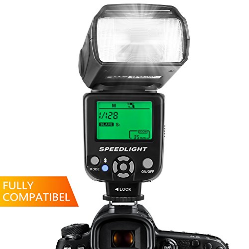 ESDDI Flash Speedlite Canon Nikon Panasonic Olympus Pentax Other DSLR Cameras, Built-in Wireless System LCD Panel Display