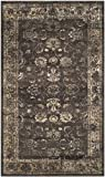 "Safavieh Vintage Premium Collection VTG117-330 Transitional Oriental Distressed Silky Viscose Area Rug, 3'3"" x 5'7"", Soft Anthracite"