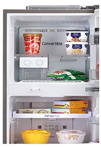 51lqiAKI1TL LG 335 L 3 Star Inverter Frost-Free Double Door Refrigerator (GL-T372JDS3, Dazzle Steel, Convertible)