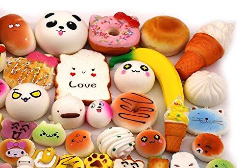 Soft Food Toys : Ligong pcs random kawaii mini soft bread donuts food