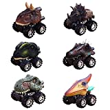 Christmas Gifts Toys for 2-9 Year Old Boys, GZCY Pull Back Dinosour Cars for Boys Birthday Present Toy Car for Kids Age 2-9 Toys for Toddlers Infant (6 pack)