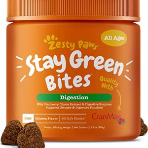 Zesty Paws Stay Green Bites for Dogs - Grass Burn Soft Chews for Lawn Spots Caused by Dog Urine - Cran-Max Cranberry for Urinary Tract & Bladder - with Apple Cider Vinegar + Digestive Enzymes - 90 Ct 19
