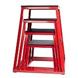 j/fit Plyometric Jump Box Set of 4 - 12',18',24',30'