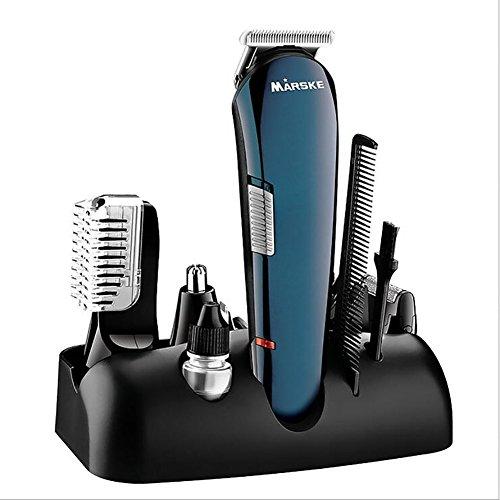 OSM&LX 5 in 1 Hair Trimmer Cordless Electric Beard Shaver Professional Hair Trimmer Professional Set Hair Trimmer for Men Kids/Adults/Elderly Black