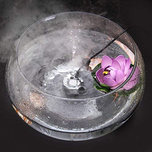 AGPTEK 400mL/H Aluminum Mini Mist Maker Fogger Water Fountain Pond Fog Machine Atomizer Air Humidifier