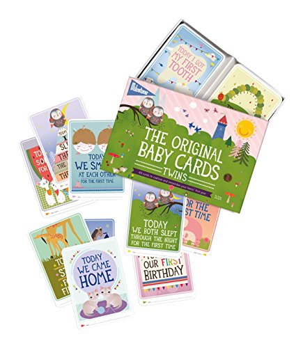 Milestone - Baby Photo Cards Original - Twins - Set of 48 Photo Cards to Capture Your Twins' First Year in Weeks, Months, and Memorable Moments
