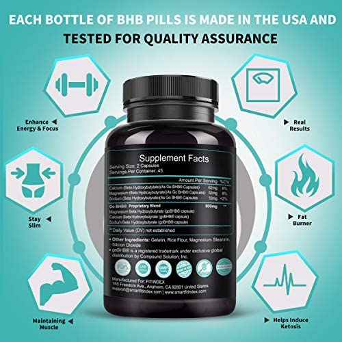 Keto Pills - Keto Diet Pills (800mg | 90 Capsules), BHB Ketogenic Supplement Exogenous Ketones Ketosis Keto Fast Burn Capsules - Support Weight Management & Metabolism, Boost Energy & Focus 6