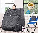 Himimi 2L Foldable Steam Sauna Portable Indoor Home Spa Weight Loss Detox with Chair Remote (Gray-)