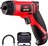 NoCry 10 N.m Cordless Electric Screwdriver - with 30 Screw Bits Set,...