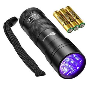 TaoTronics Black Light, 12 LEDs 395nm UV Blacklight Flashlights Detector for Pets Urine and Stains with 3 Free AAA Batteries 8