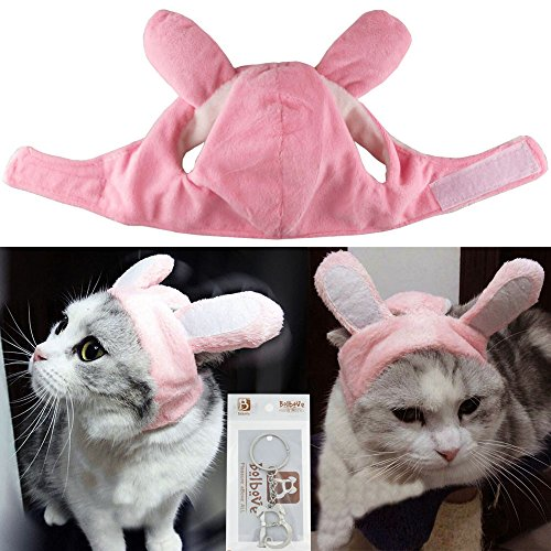 Bro'Bear Bunny Rabbit Hat with Ears for Cats & Small Dogs Party Costume Accessory Headwear 1