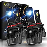 Cougar Motor X-Small 9005 + H11 LED Headlight Bulb, Combo (2 Sets) 10000Lm 6500K Conversion Kit - Cool White CREE