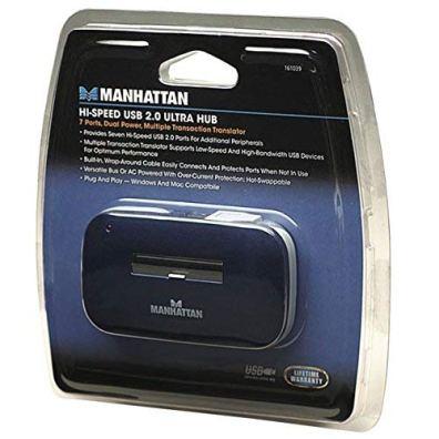 Manhattan-7-Port-USB-20-Ultra-Hub-Plug-and-Play-C-Windows-and-Mac-Compatible-161039