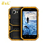 E&L W6S 3G WCDMA Rugged Smartphone Unlocked IP68 Waterproof Dustproof Shockproof 8GB/1GB Android 6.0 Camera 8MP Military Grade GSM Cellphone(Yellow)