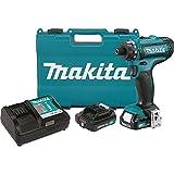 Makita FD06R1 12V Max CXT Lithium-Ion Cordless Hex Driver-Drill Kit, 1/4'