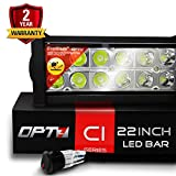 OPT7 C1 22' Off-Road LED Light Bar w/Wire Harness and Switch - 120w Spot Auxiliary Lamp