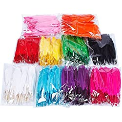 Colorful Goose Feathers 100pcs/pack/ (10pcs X10colors) (4--6 inch)