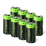 Arlo Batteries Rechargeable, Enegitech CR123A Lithium Batteries 3.7V 750mAh for Arlo Cameras(VMC3030 VMK3200 VMS3330 3430 3530) Flashlight Security System - 8 Pack