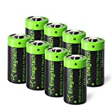 Arlo Batteries Rechargeable, Enegitech CR123A Lithium Batteries 3.7V 750mAh for Arlo Cameras(VMC3030 VMK3200 VMS3330 3430 3530) Flashlight Security System - 8 Pack