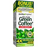 Purely Inspired Green Coffee Bean, Weight Loss Supplement, Non-Stimulant 100% Pure Green Coffee for Weight Loss, 100 Count *Bonus Size*