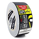 Gaffers Tape - 2 Inch by 40 Yards in Black - Get 33% More! High End Professional Grade - Gaffer Tape...