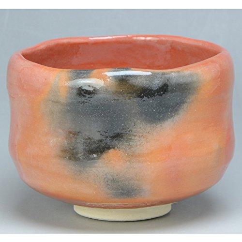 Kiyomizu-kyo yaki ware. Japanese Matcha chawan teabowl Aka raku zuisho with paper box. Ceramic. kymz-TRA454